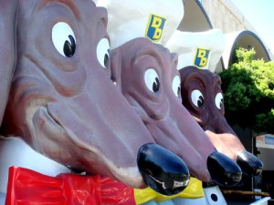 Doggie Diner Heads at the Maker\'s Faire