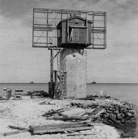 Japanese early warning radar on Makin Island.